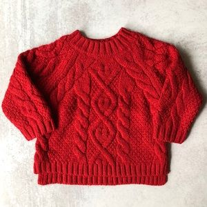Zara Baby Knitwear Oversized Holiday Sweater